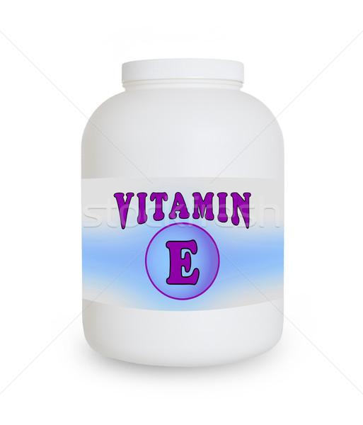 Vitamin E container Stock photo © michaklootwijk