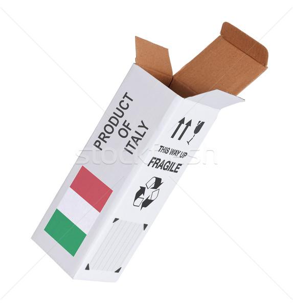Exportar producto Italia papel cuadro Foto stock © michaklootwijk