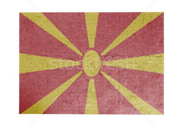 Grande rompecabezas 1000 piezas Macedonia bandera Foto stock © michaklootwijk