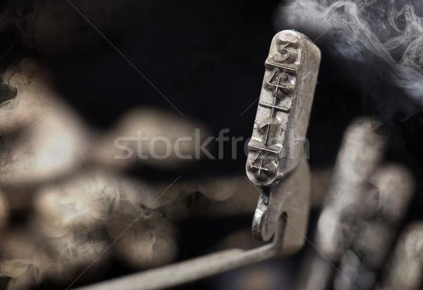 14 çekiç eski daktilo gizem Stok fotoğraf © michaklootwijk
