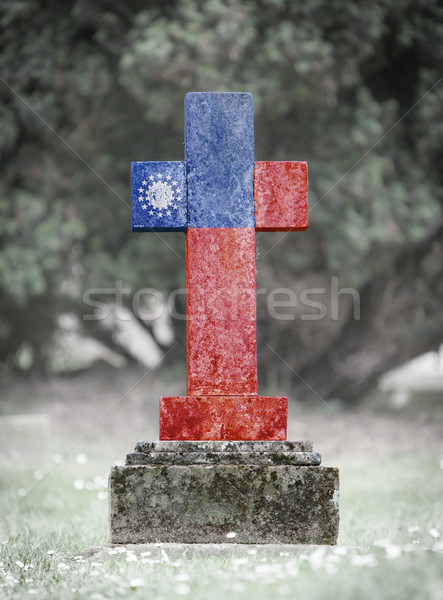 Gravestone in the cemetery - Myanmar Stock photo © michaklootwijk