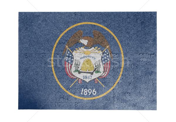 Groot 1000 stukken Utah vlag Stockfoto © michaklootwijk