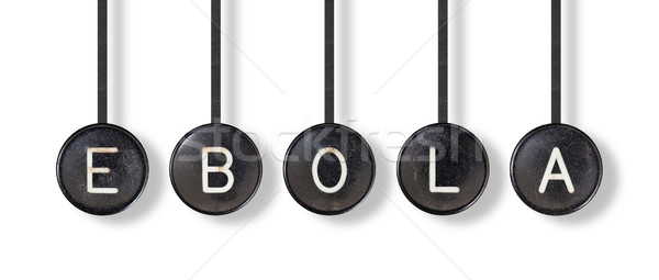 Typewriter buttons, isolated - Ebola Stock photo © michaklootwijk