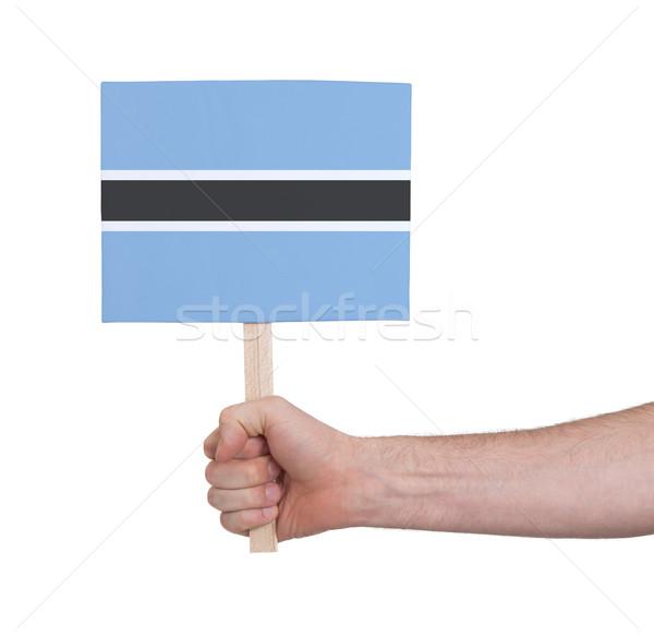 Hand klein kaart vlag Botswana Stockfoto © michaklootwijk