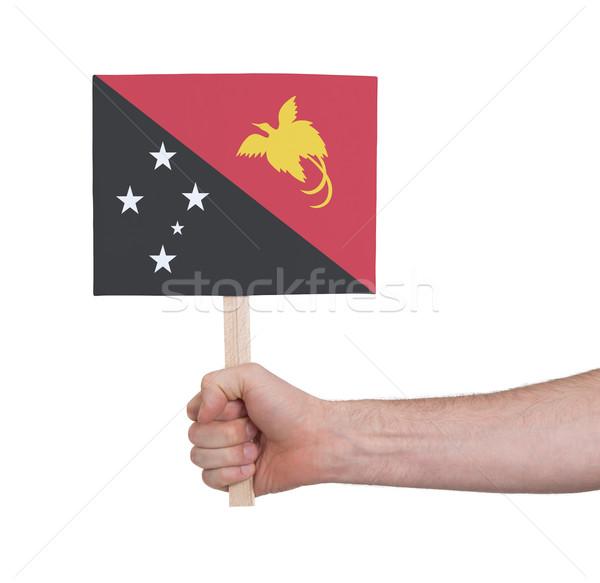 стороны небольшой карт флаг Папуа-Новая Гвинея Сток-фото © michaklootwijk