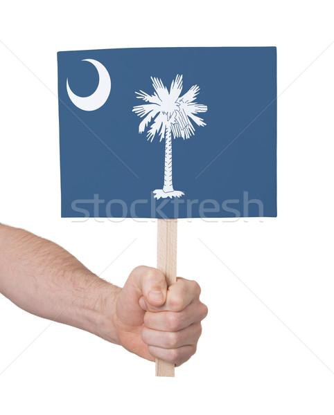 Mão pequeno cartão bandeira Oklahoma Foto stock © michaklootwijk