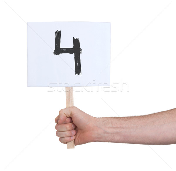 Sign with a number, 4 Stock photo © michaklootwijk