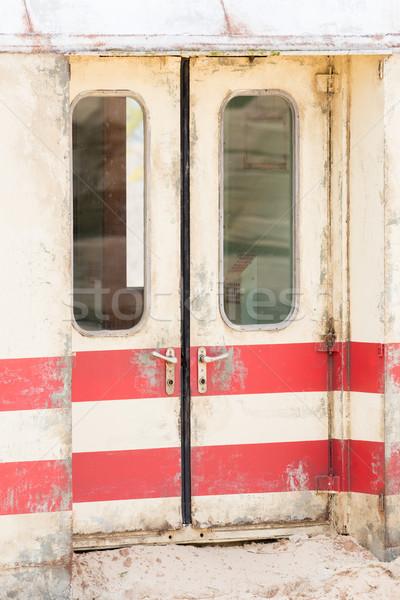 öreg vonat fuvar durva homokos terep Stock fotó © michaklootwijk