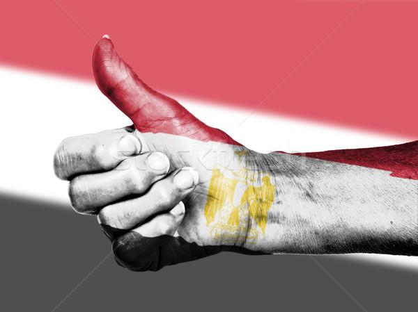старуху знак флаг шаблон Египет Сток-фото © michaklootwijk
