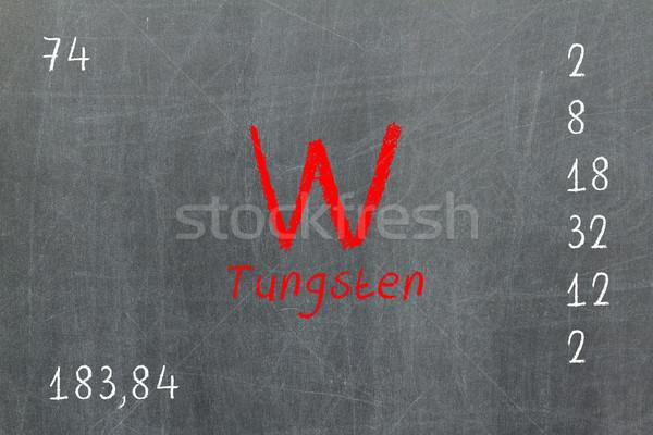 Yalıtılmış tahta tungsten kimya okul Stok fotoğraf © michaklootwijk