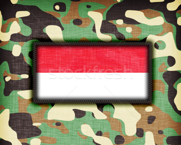 Amy camouflage uniform, Indonesia Stock photo © michaklootwijk