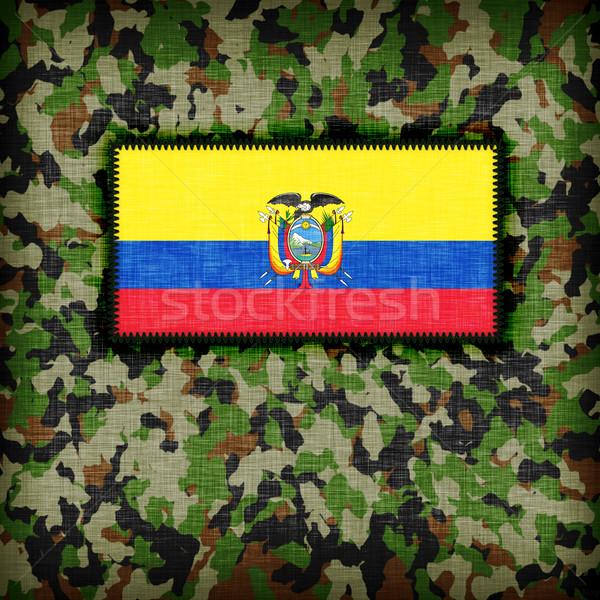 Tarnung einheitliche Ecuador Flagge Textur abstrakten Stock foto © michaklootwijk