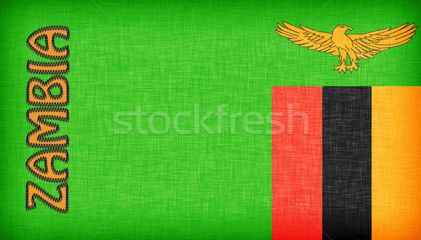 Linen flag of Zambia Stock photo © michaklootwijk