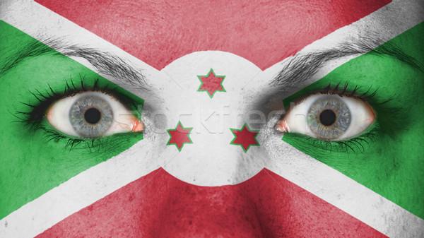 Olhos bandeira pintado cara Burundi Foto stock © michaklootwijk