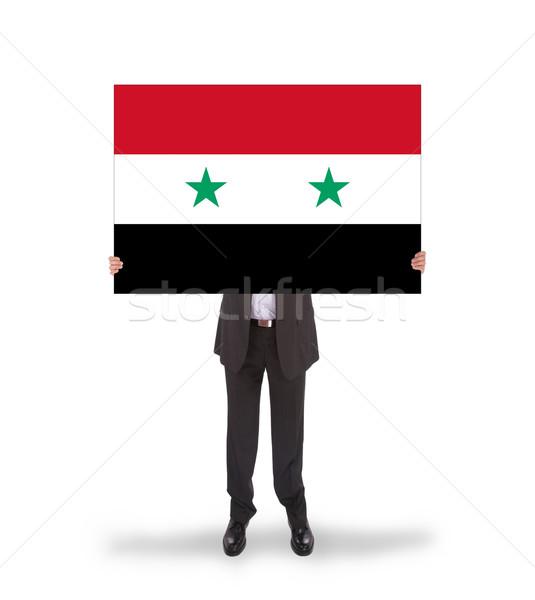 Empresário grande cartão bandeira Síria Foto stock © michaklootwijk