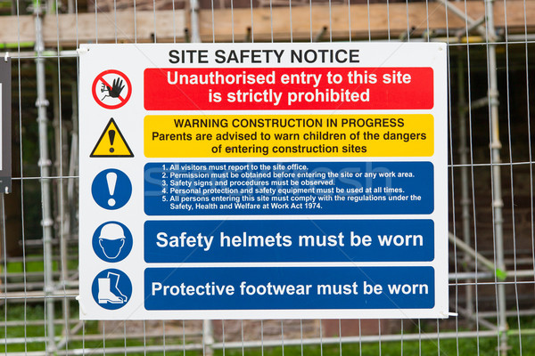 Construction Signs building site Stock photo © michaklootwijk