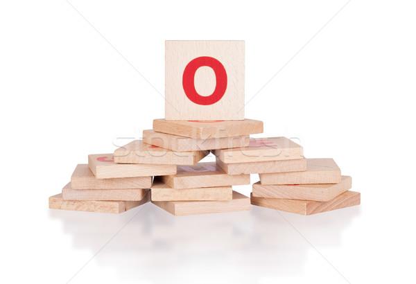 ábécé o betű absztrakt klasszikus fakockák gyerek Stock fotó © michaklootwijk