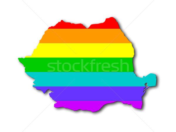 Romania - Rainbow flag pattern Stock photo © michaklootwijk