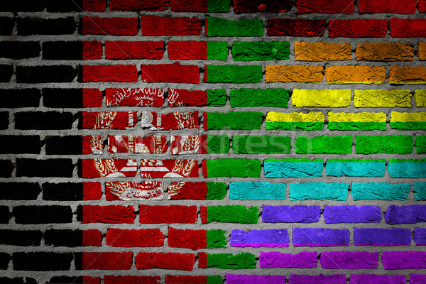 Dark brick wall - LGBT rights - Afghanistan Stock photo © michaklootwijk