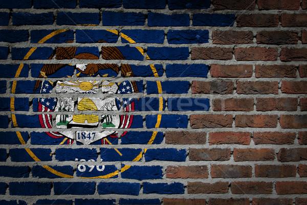 Donkere muur Utah textuur vlag geschilderd Stockfoto © michaklootwijk