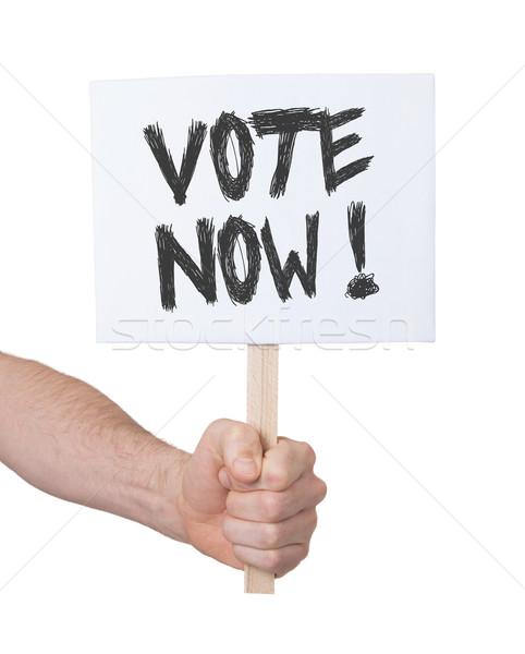 Main signe isolé blanche vote Photo stock © michaklootwijk