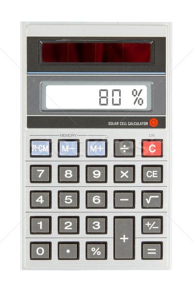 Stok fotoğraf: Eski · hesap · makinesi · yüzde · 80 · yüzde