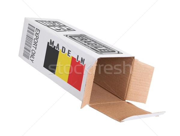 Concept of export - Product of Belgium Stock photo © michaklootwijk