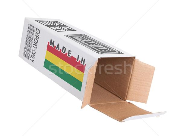 Eksport produktu Boliwia papieru polu Zdjęcia stock © michaklootwijk