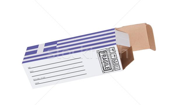 Exportar producto Grecia papel cuadro Foto stock © michaklootwijk