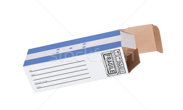 Eksport produktu Honduras papieru polu Zdjęcia stock © michaklootwijk