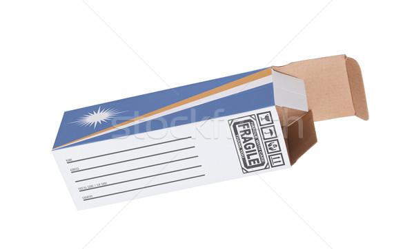 Exportar produto papel caixa Foto stock © michaklootwijk