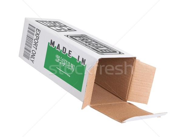 Exportar producto Arabia Saudita papel cuadro Foto stock © michaklootwijk