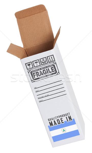 エクスポート 製品 ニカラグア 紙 ボックス ストックフォト © michaklootwijk