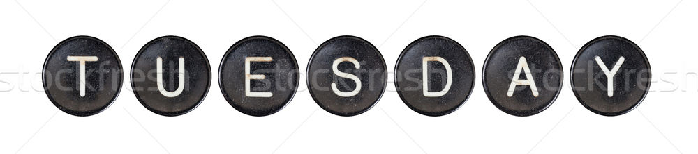 Typewriter buttons, isolated - Tuesday Stock photo © michaklootwijk
