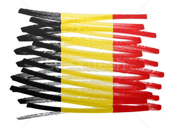 Zászló illusztráció Belgium toll üzlet festék Stock fotó © michaklootwijk