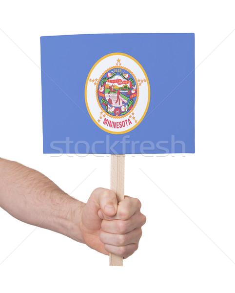El küçük kart bayrak Minnesota Stok fotoğraf © michaklootwijk