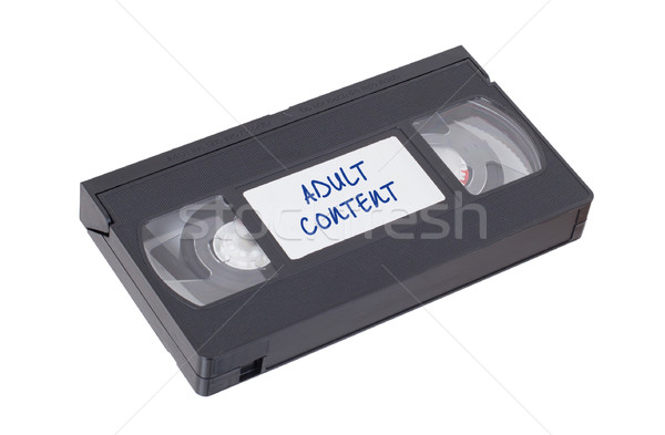 Retro videotape isolated on a white background Stock photo © michaklootwijk
