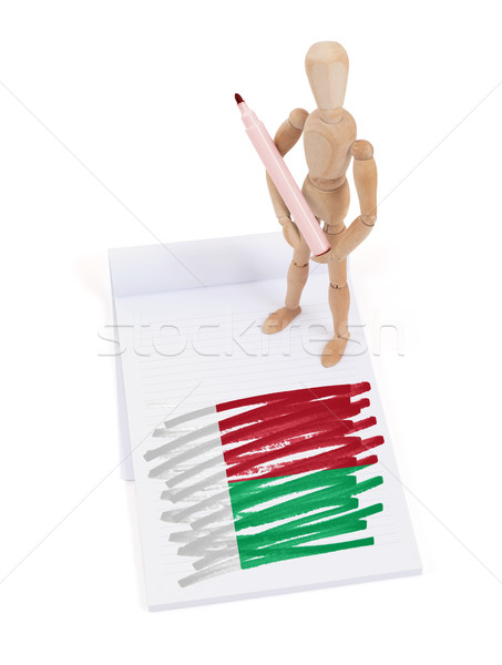 манекен рисунок Мадагаскар флаг бумаги Сток-фото © michaklootwijk