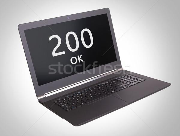 Http Код вызывать ноутбука экране Сток-фото © michaklootwijk