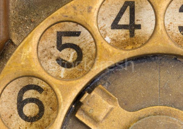 Vintage telefone discar sujo escritório Foto stock © michaklootwijk