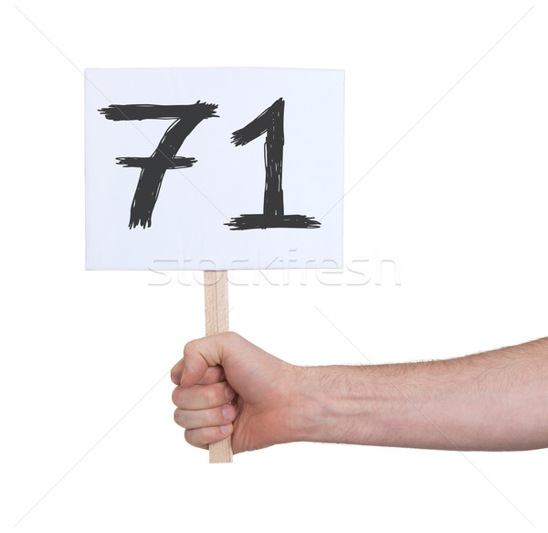 Sign with a number, 71 Stock photo © michaklootwijk