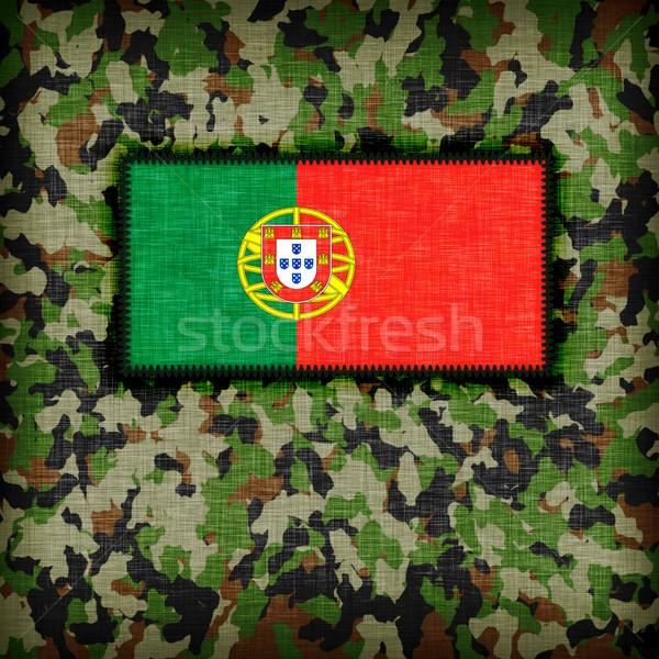Amy camouflage uniform, Portugal Stock photo © michaklootwijk