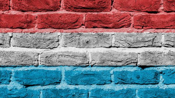 Stockfoto: Muur · textuur · oude · vlag · Luxemburg · bouw