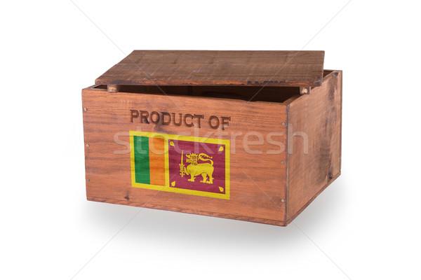 Stockfoto: Houten · geïsoleerd · witte · product · Sri · Lanka