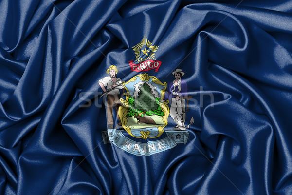 Stock photo: Satin flag, three dimensional render