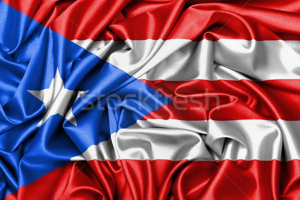 Satin flag, three dimensional render Stock photo © michaklootwijk