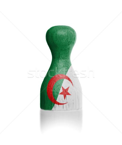 Legno pedone bandiera pittura Algeria vernice Foto d'archivio © michaklootwijk