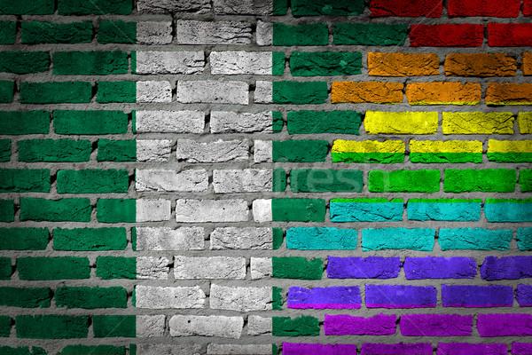 Ciemne murem prawa Nigeria tekstury banderą Zdjęcia stock © michaklootwijk