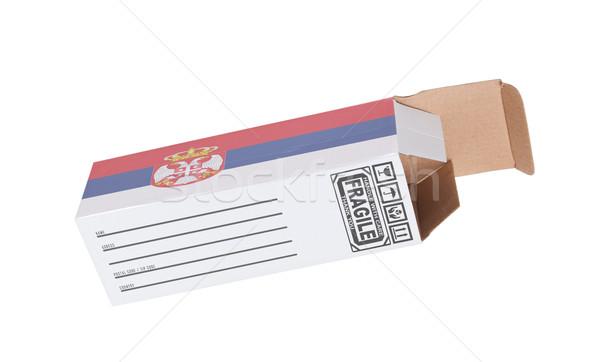 エクスポート 製品 セルビア 紙 ボックス ストックフォト © michaklootwijk