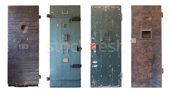 Collection of four old prison doors Stock photo © michaklootwijk